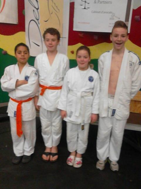 Gugus, Mathoé, Mathieu et Océane
